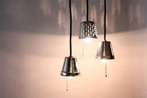 Kitchen Grater Lights by Handmade Industrial Pendant Lights Repurposed Grater