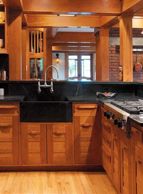 craftsman kitchen cabinets arts crafts homes