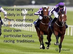 "Презентация на тему: ""HORSE RACES. Horse racing is an ..."