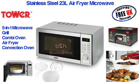 fryer microwave air stainless oven combination grill tower multi function 23l sl microwaves combi