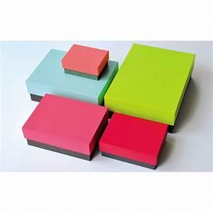 Belle Boite De Rangement : boites de rangement multicolores remember chez pure deco ~ Farleysfitness.com Idées de Décoration