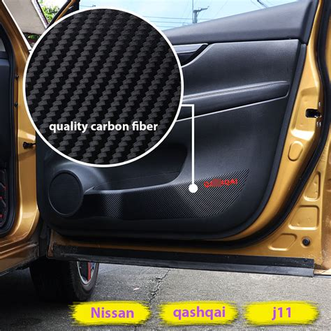 interior car door protector car interior door protector carbon fiber sticker mat