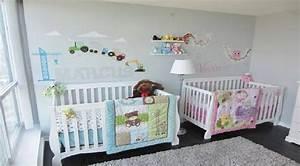 deco chambre bebe jumeaux mixte visuel 2 With deco chambre bebe mixte