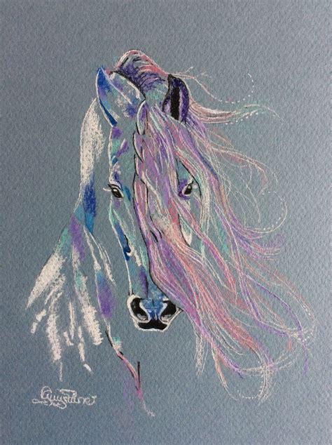 horse art pastel  charcoal guylaine simard beautiful