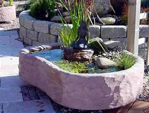 mini teich mit bronzefigur springbrunnen wasserspiel With französischer balkon mit garten pumpe