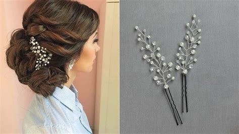 hair pins  hairstyle hair vine accessory hair comb diy