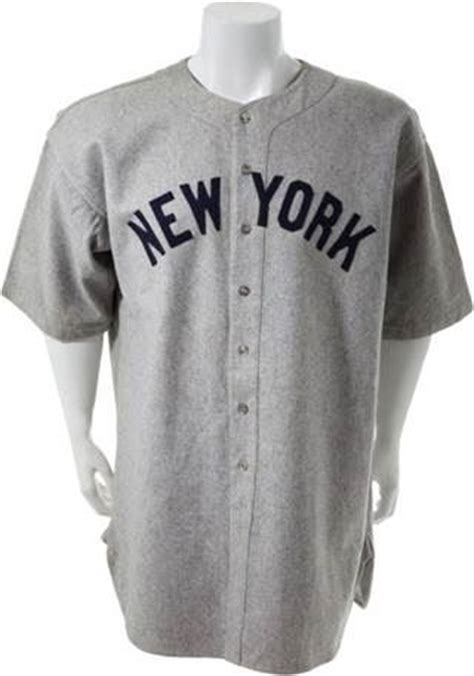 babe ruths   yankees jersey brings