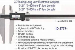 Long Jaw Heavy Duty Electronic Digital Caliper 24 Inch 6