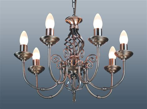 antique brass chandelier chain 7 arm barley twist classic ceiling light pendant