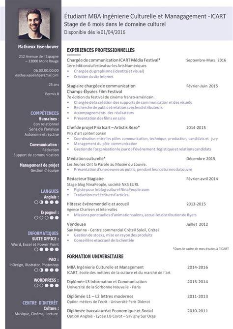 Modèle Cv étudiant Gratuit by Les 25 Meilleures Id 233 Es De La Cat 233 Gorie Cv 233 Tudiant Sur
