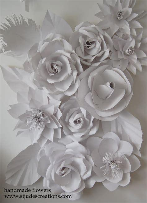 wedding backdrop flowers handmade paper flowers  maria