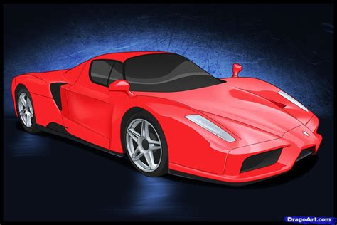 How To Draw A Ferrari, Step By Step, Cars, Draw Cars