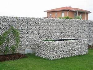 Mur En Gabion : 95 id es pour la cl ture de jardin palissade mur et ~ Premium-room.com Idées de Décoration