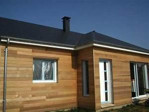 maison ossature bois constructeur With photo bardage bois exterieur 6 maison ossature bois plain pied