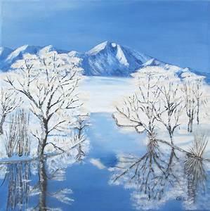 Bilder Bäume Gemalt : winterlandschaft gemalt in acryl foto bild jahreszeiten winter natur bilder auf fotocommunity ~ Orissabook.com Haus und Dekorationen