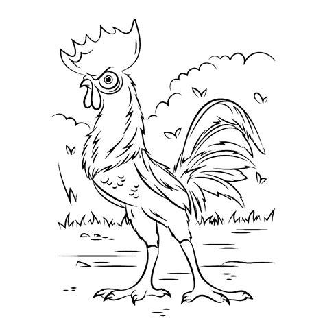 Kleurplaat Disney Vaiana by Leuk Voor Heihei The Rooster