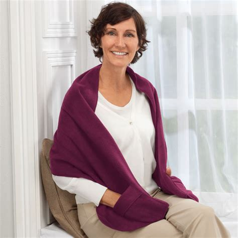 Polar Fleece Shawl   Fleece Shawl With Pockets   Easy Comforts