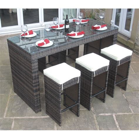 All Weather Garden Furniture Sets by All Weather Brown Rattan Outdoor Garden Furniture 7