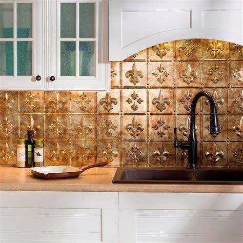 decorative backsplashes kitchens fasade 24 in x 18 in fleur de lis pvc decorative tile