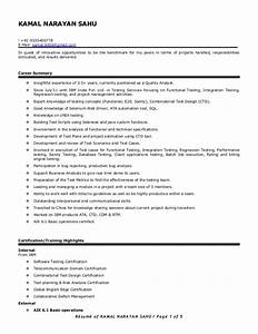 Resume of kamal sahu automation manual testing 35 for Sample resume for 3 years experience in manual testing