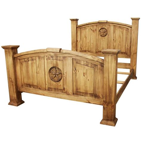 rustic pine collection mansion bed cam505