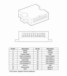 2008 Kia Sorento Power Seat Parts Diagram