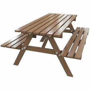 Table Et Banc De Jardin : table de jardin avec banc ~ Melissatoandfro.com Idées de Décoration