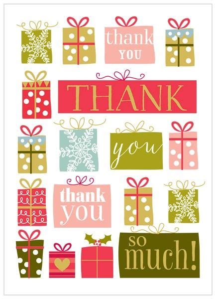 pack of 8 christmas presents christmas thank you cards