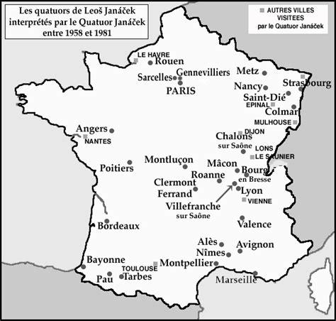 Carte De à Imprimer Avec Villes by Carte Des Villes De 195 Imprimer