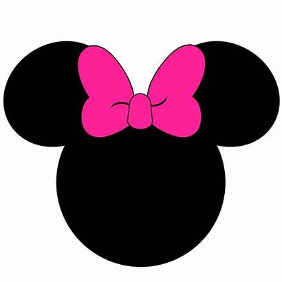Minnie Mouse Head Clipart Outline Face Silhouette
