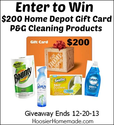 home depot sweepstakes season s cleaning sweepstakes hoosier homemade