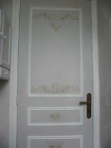 Porte Interieur Grise : decors sur porte tendance peinture et patine ~ Mglfilm.com Idées de Décoration