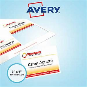 avery name badge refill inserts white 3quot x 4quot 300ct ave 5392 With avery name badge inserts 5392