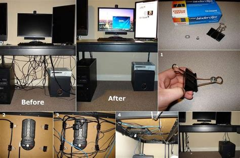hide cords on desk diy easy cable organizer fabdiy