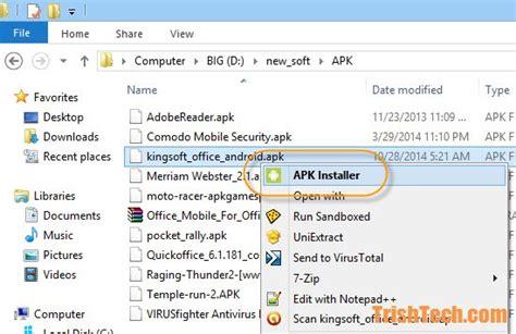 Add Apk Installer To Windows File Explorer Context Menu
