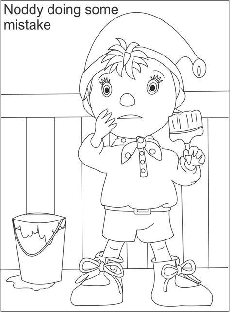 noddy printable coloring page  kids