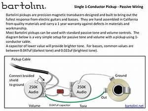 Single Pick Up Guitar Wiring Diagrams