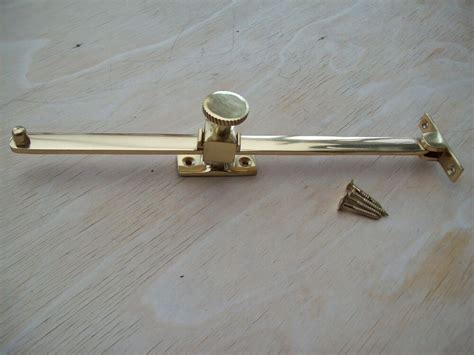 polished brass sliding screw  lock window casement stay mm  ebay