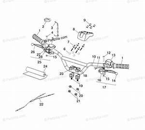 Polaris Atv 2001 Oem Parts Diagram For Handlebar