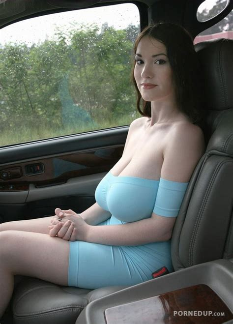 Hot Milf In Tight Blue Dress With Big Tits Porned Up