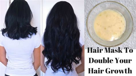 Hair Mask To Double Your Hair Growth In Just 1 Month Diy