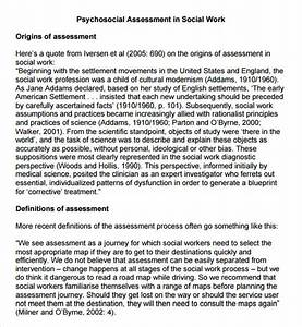 9 sample psychosocial assessments sample templates With social work psychosocial assessment template