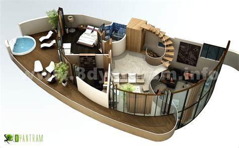plan de maison 5 chambres plain pied 3d floor plan 3d floor plans design
