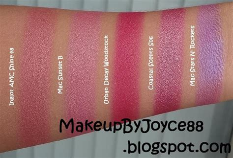 makeupbyjoyce eyeshadow swatches comparisons pink