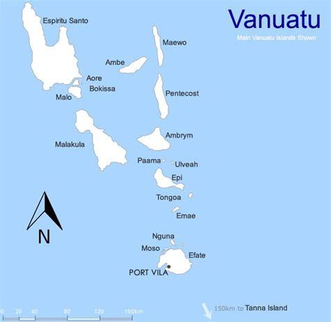 vanuatu map island resort accommodation locations