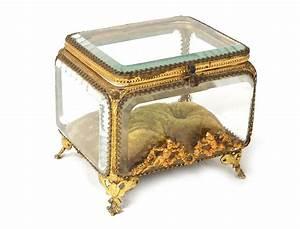 Boite A Bijoux En Verre : coffret bo te bijoux verre laiton dor angelots napol on iii xix me si cle ~ Farleysfitness.com Idées de Décoration