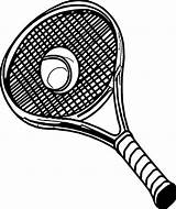 Tennis Racket Coloring Ball Pic sketch template