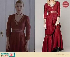 WornOnTV: Madison's red maxi dress on American Horror ...