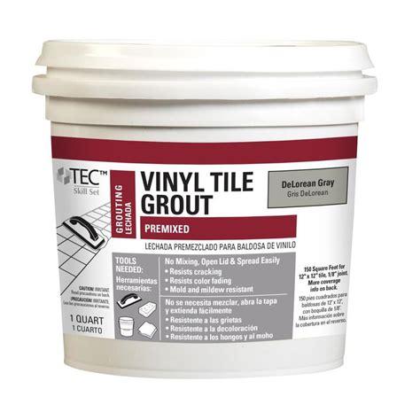 blue hawk vinyl tile grout application shop blue hawk tec skill set 32 oz delorean gray sanded
