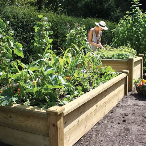 Superior Wooden Raised Bed 12mx24m (4'x8') From Harrod